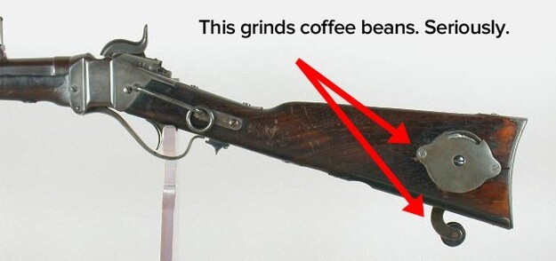 13. The soldiers loved their coffee so much, that some guns, such as the Sharps military carbine, had a coffee mill buil