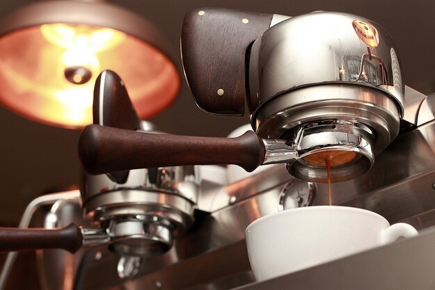 10. Espresso is not a bean or type of coffee blend, it's a way of preparing coffee by shooting hot, pressurized water th