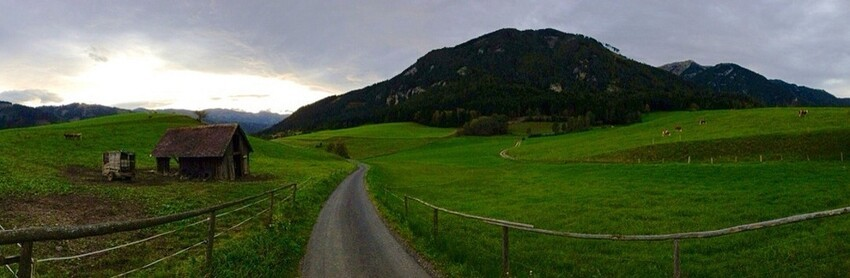 You can use it to take nice, wide photos like these, which is kinda cool. Nothing crazy, pano apps have been around for