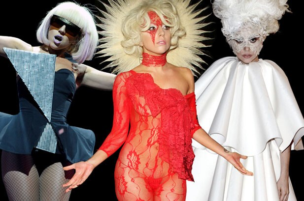 Bella Donna: Lady Gaga Crazy outfits.
