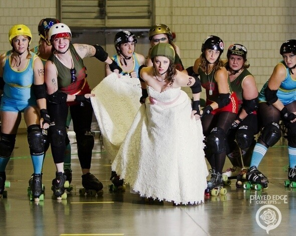 Wierd Roller Derby Bridal Shoot