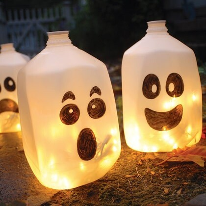 Skip pumpkins; go with milk jugs