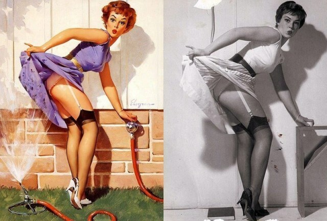 Pinup Girl Paintings with Orginial Photographs