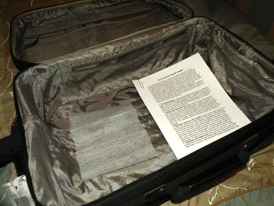 keep dryer sheets in your suitcase