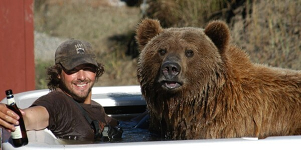 This is Casey Anderson and his pet bear Brutus