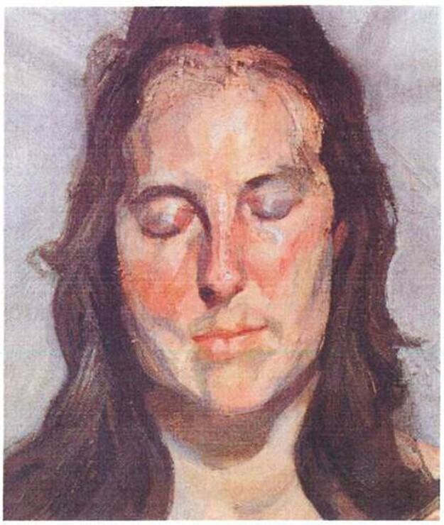 "Lucian Freud's ""Woman with Eyes Closed"" (2002)"