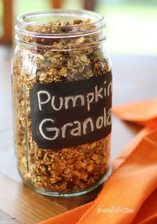Tossing some pumpkin seeds in with granola sounds delicious!