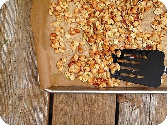 Add roasted pumpkin seeds to ANYTHING.