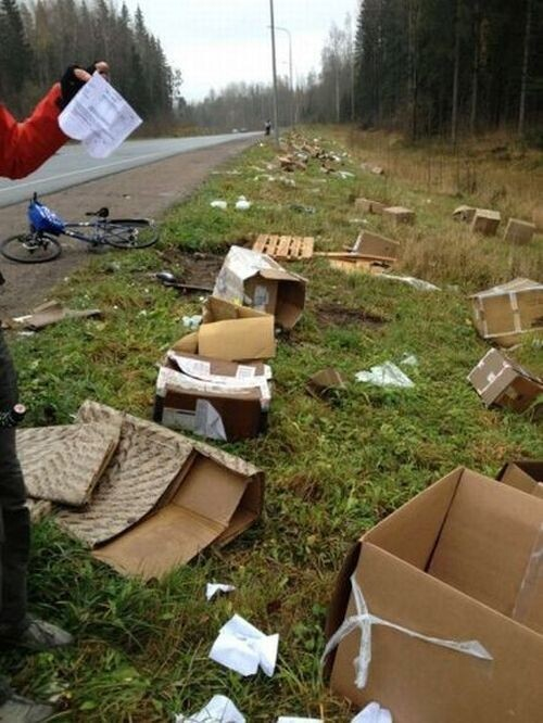 Accident with Mail