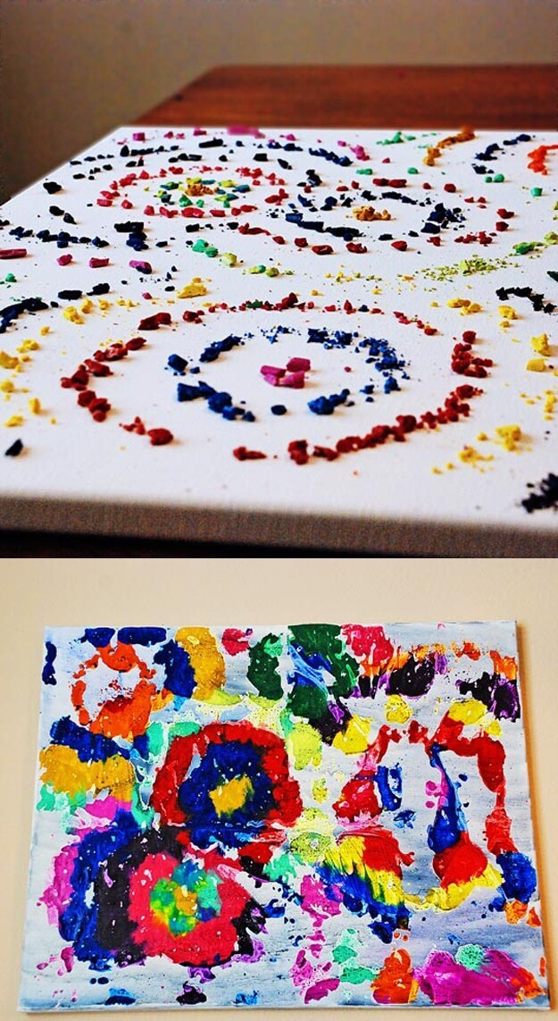 Inspired Ways To Create Melted Crayon Art