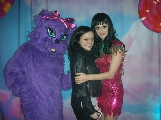 Kitty Purry also makes public appearances with Katy.
