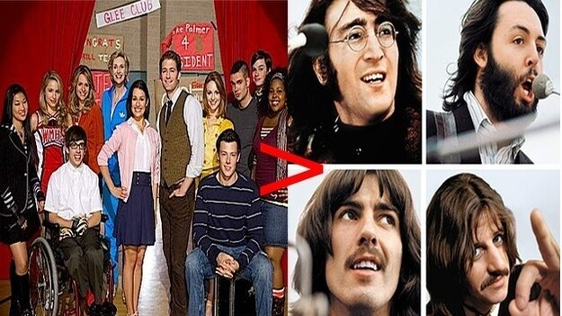 "The cast of ""Glee"" has had more songs chart than the Beatles"