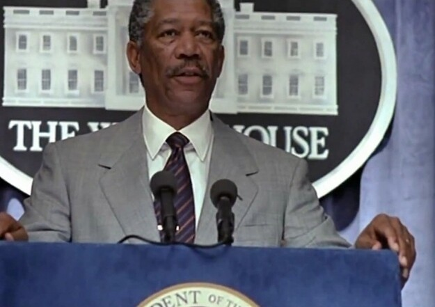 "Morgan Freeman in ""Deep Impact"""