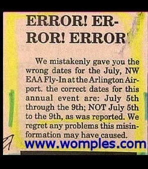Funniest Newspaper Corrections