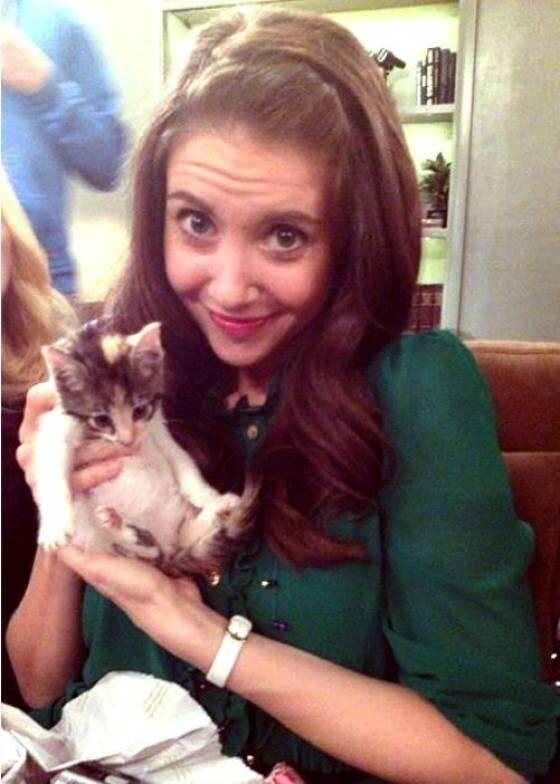 Alison Brie Holding A Kitten. That Is All.