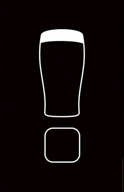 In-bar poster for Guinness