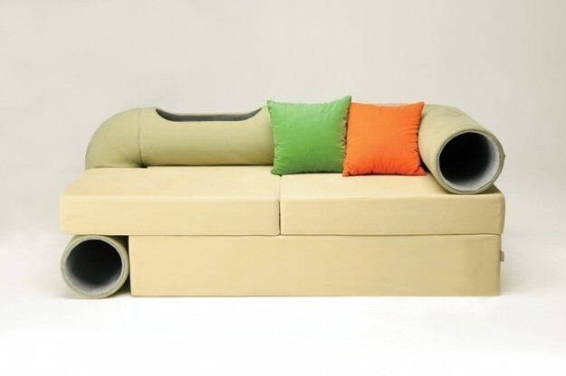 The Cat-Tunnel Sofa