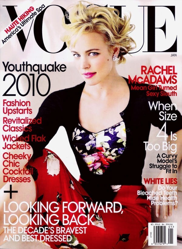 "Rachel McAdams was the best at wearing clothes according to ""Vogue"" in 2009."