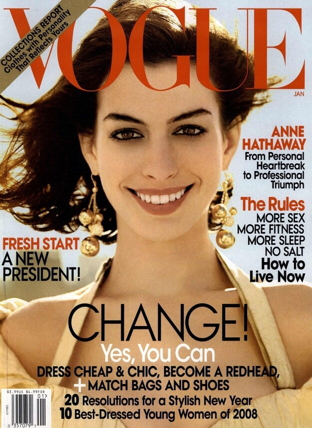 In 2008, Anne Hathaway won the best-dressed contest.