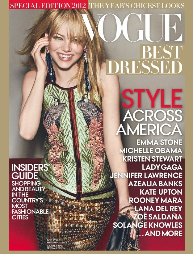 "The latest star atop the annual ""Vogue Best Dressed"" list is Emma Stone."