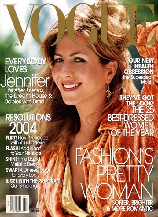 And in 2003, then-blonde-brunette hybrid Jennifer Aniston got the cover.