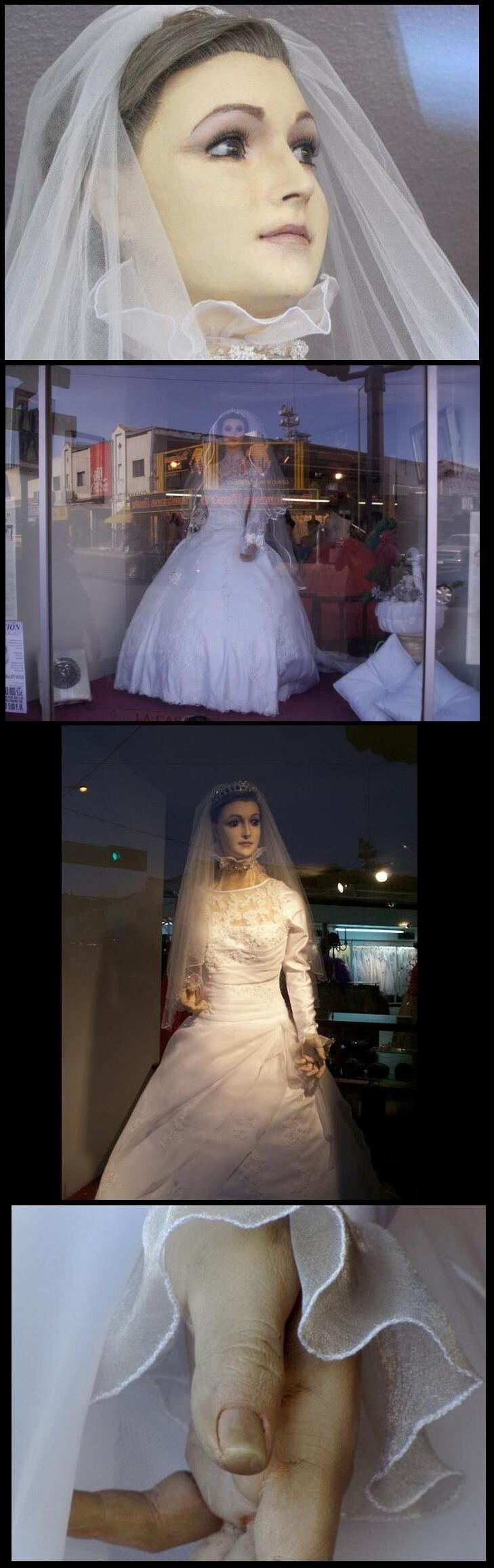 The Creepiest Mannequin Ever Lives in a Bridal Shop