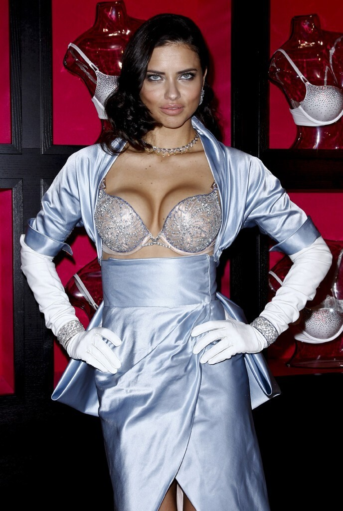 Adriana Lima Wearing $2M On Her Tits