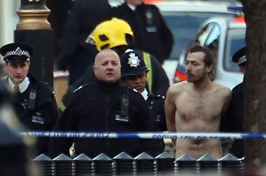 Naked Man Brings London to A Halt