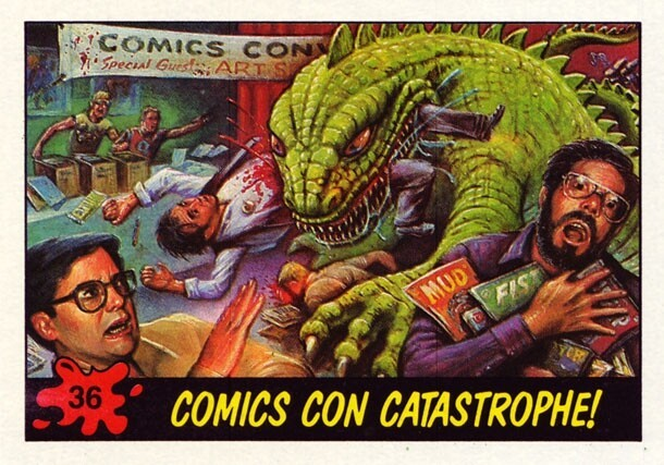 Dinosaurs Attack! Grotesque Trading Cards From The 80's