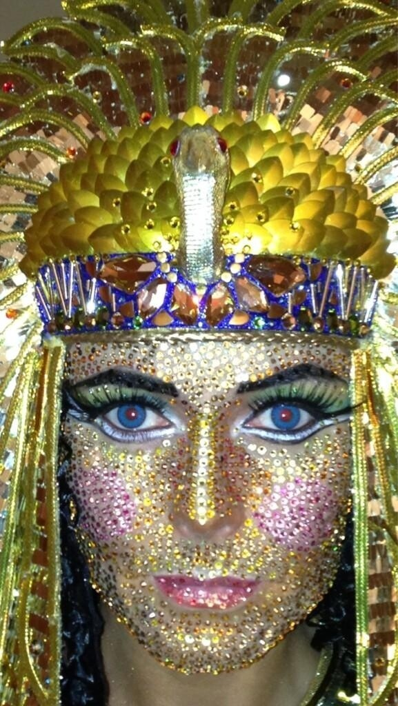 Heidi Klum Bedazzled Her Entire Face