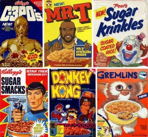 Awesome cereal boxes you'll never see again