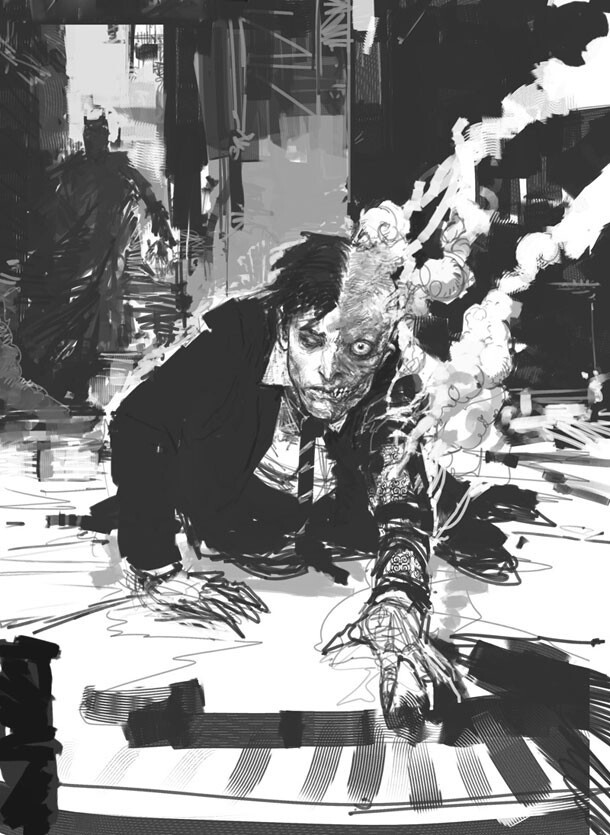Never-Seen-Before Concept Art From 'The Dark Knight'