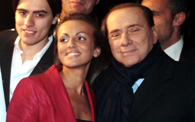 Silvio Berlusconi with his Future Wife