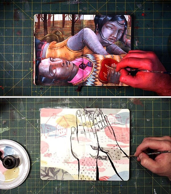 Incredible Time-Lapse Art That Springs To Life