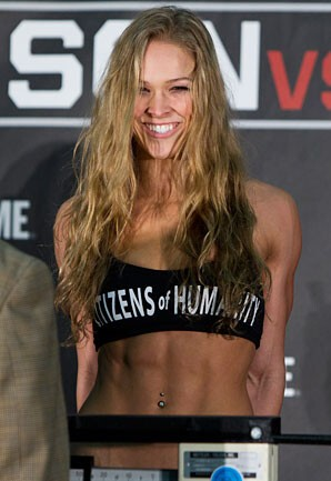 But Rousey is in excellent shape!