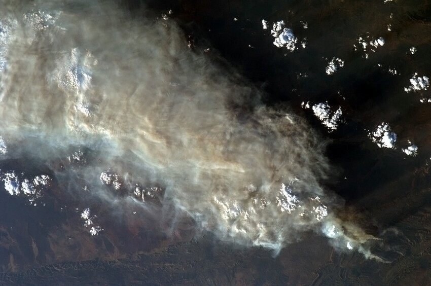 Australian Brush Fires From Space