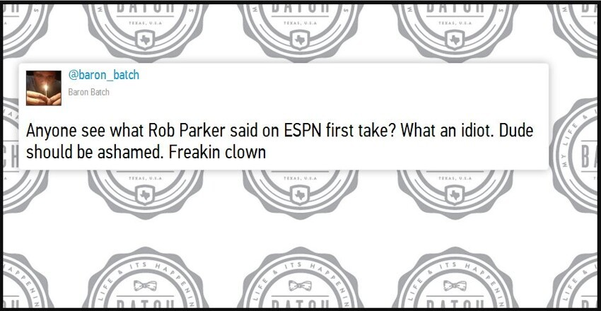 Rob Parker wont be coming back to ESPN after Rude Remark