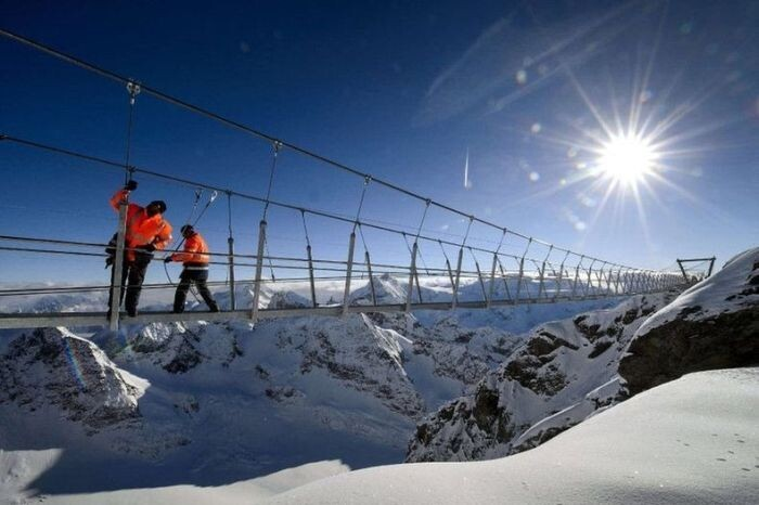 The Highest Suspension Bridge in Europe