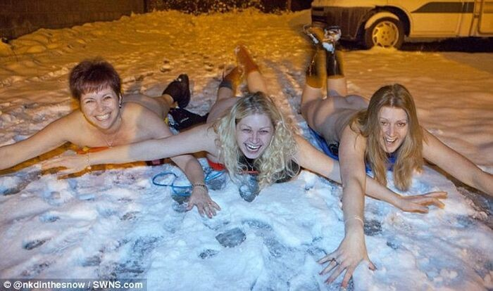 Naked People in the Snow