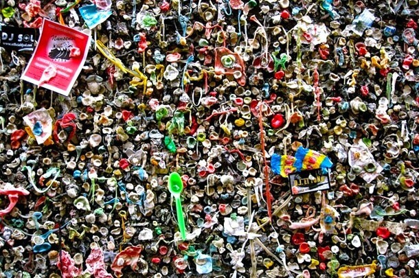 Bubblegum Alley: A Street Made Out Of Old Chewing Gum