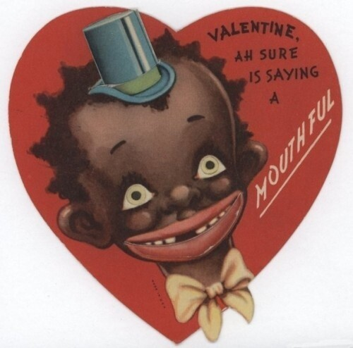 Unbelievably Racist Antique Valentine's Day Cards