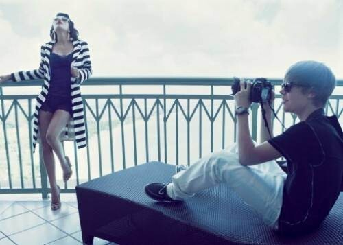 Kim Kardashian And Justin Bieber In Elle