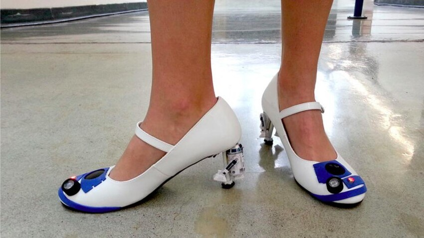 For Your Geeky Girlfriend - R2D2 Heels