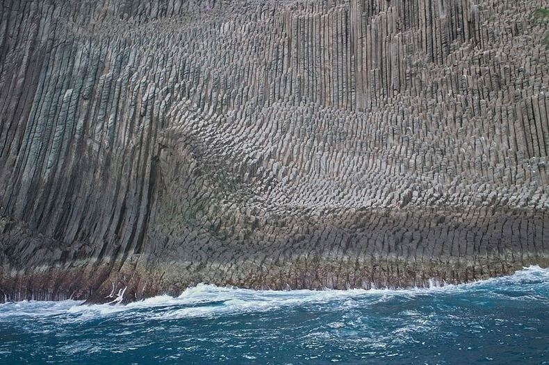 Beautiful Basalt Cliffs of Los Organos, Spain