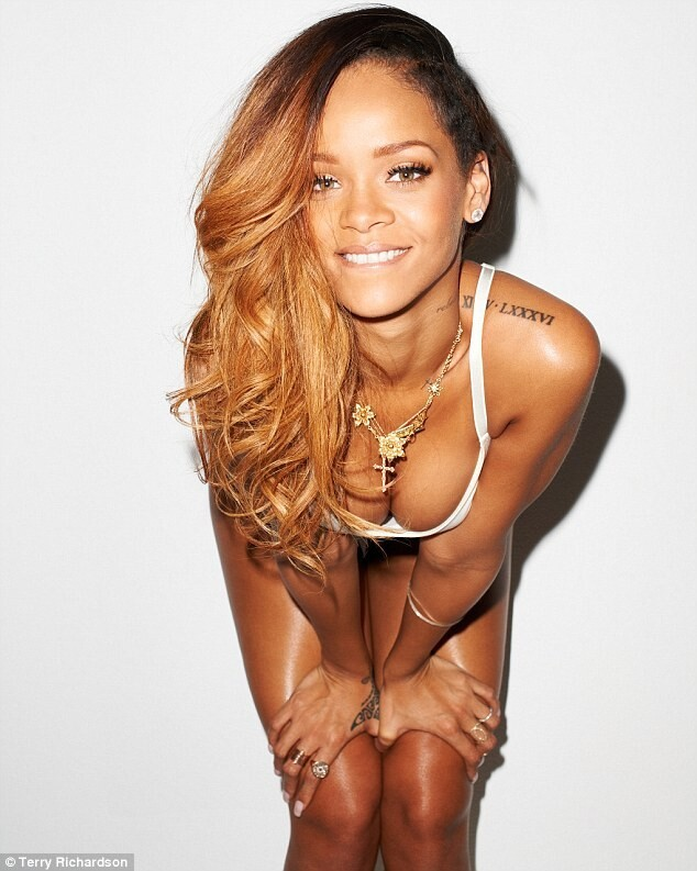 Rihanna: Photoshoot with hand rolled cigarette