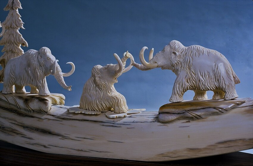 Gorgeous Mammoth Tusk Art.