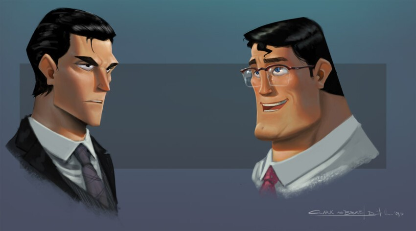 Bruce Wayne and Kent Clark