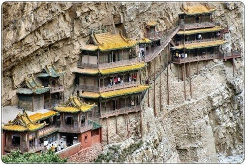 Mountain temples around the globe