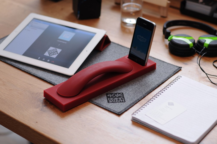 A New Gadget That Transforms Your Iphone into Stationary Phone