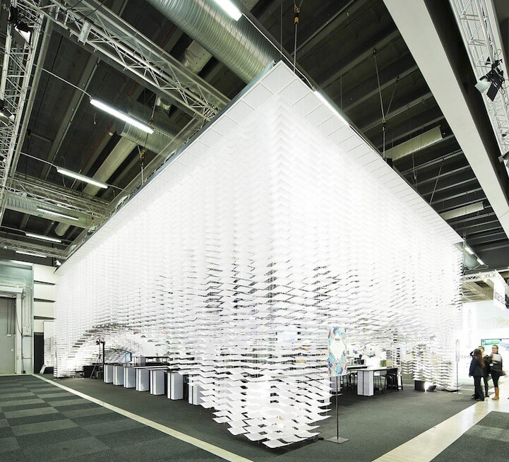 700,000 Sheets of Paper Form Stunning 3D Design Space